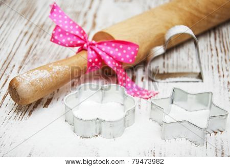 Cookie Cutter And Rolling Pin