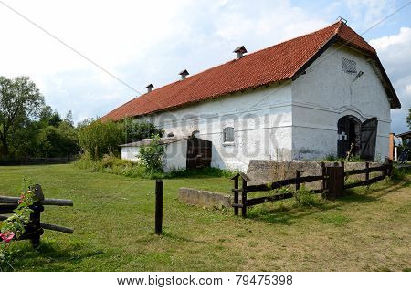 Old white stable