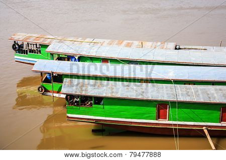 Sterns Of Laos Boat