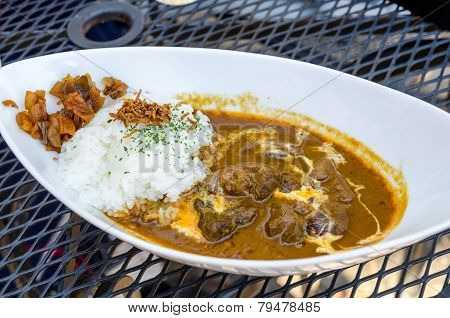 Traditional Japanese Curry Rice With Beef
