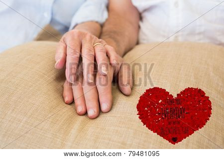 I love you everyday against retired couple holding hands