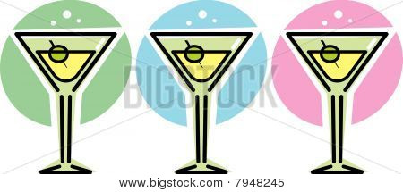 Martini Glasses - Vector illustration