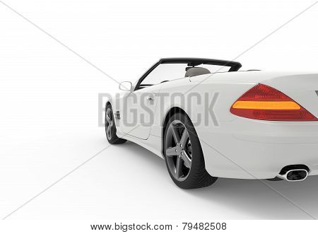 Back White Car