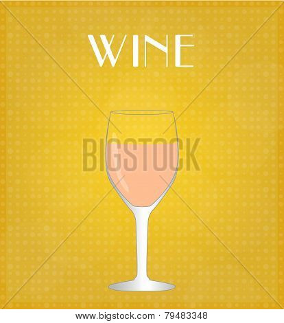 Drinks List Rosé Wine With Golden Background
