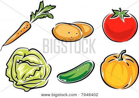 Vegetables - vector illustration