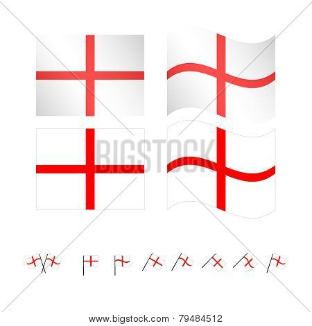 England Flags Eps 10
