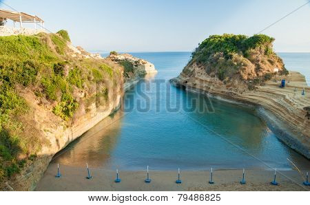 Canal D'amour Sidari, Corfu Island In Greece. Channel Of Love