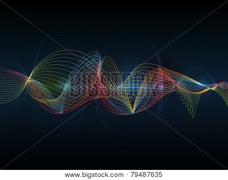 Illustration Abstract Futuristic Wave-digital  Technology Concept
