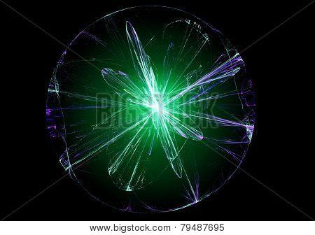 Abstract magic ball