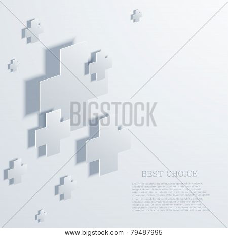 Vector modern plus infographic background.