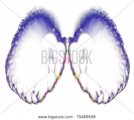Abstract angel wings. Fractal art graphics