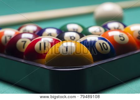 Arranged Billiard Balls; Macro