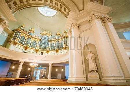 Classical Interior Of Helsinki Cathedral