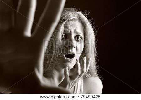 Woman Victim Of Domestic Violence And Abuse