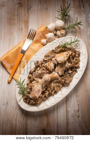 chicken with sauteed mushrooms