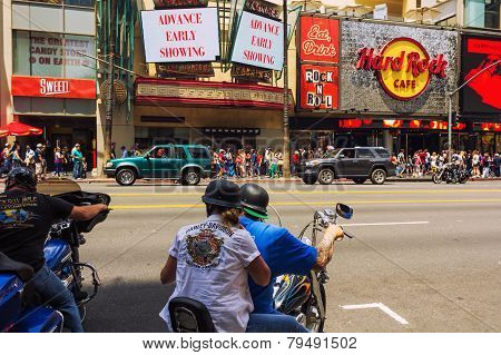 Motorcyclists In Hollywood
