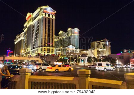 Cars At Night In Las Vegas