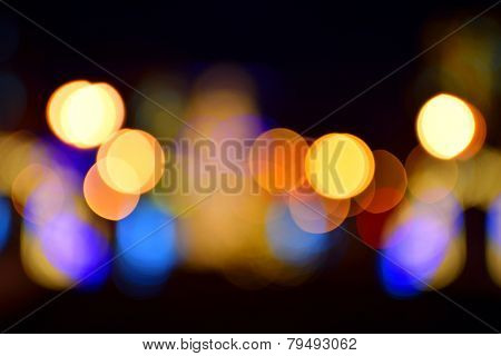 blurred colorful  lights as background