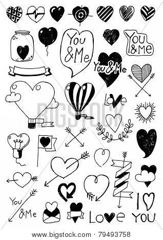 Big doodle set - Valentine day