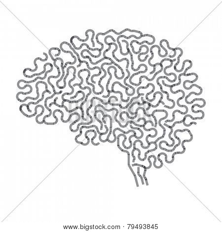 Abstract brain, maze, way out, difficult path.