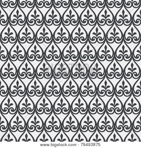 Vector seamless pattern. Vintage style