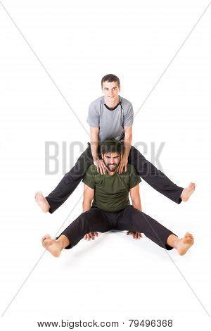 Two Acrobats Posing