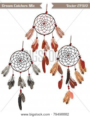 Classic dream catchers vector design elements