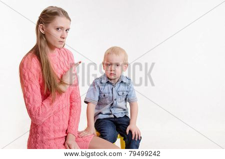 Mom Scolds Boy