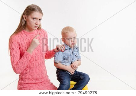 Child Does Not Want To Listen My Mother Farewell