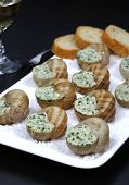 picture of escargot  - Escargots traditional French cuisine - JPG