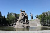 image of defender  - Monument to soldiers to the defenders of the Stalingrad city Russia - JPG