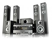 image of home theater  - Home cinema speaker system - JPG