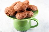 picture of lent  - Lent chocolate and jam cookies on plate - JPG