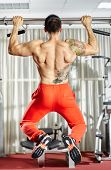 picture of pull up  - Fitness man doing pull - JPG