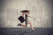 image of running-late  - Running to work  - JPG
