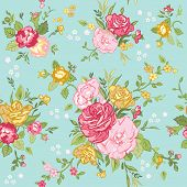 picture of shabby chic  - Seamless Floral Shabby Chic Background  - JPG
