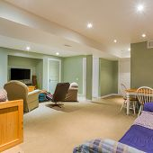 stock photo of basement  - Basement Interior design in a new house - JPG