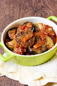 pic of stew  - Vegetable stew in a dish - JPG