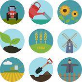 picture of truck farm  - Farm  flat icons - JPG