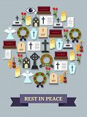 stock photo of rest-in-peace  - Rest in peace sign - JPG