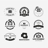 stock photo of body shapes  - Vector collection of photography logo templates - JPG