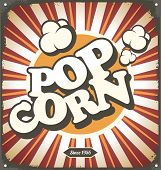 stock photo of 50s 60s  - Popcorn vintage poster concept - JPG