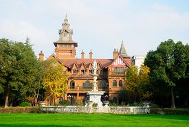 picture of mansion  - A Victorian style mansion at Shanghai Film Park in Shanghai China - JPG