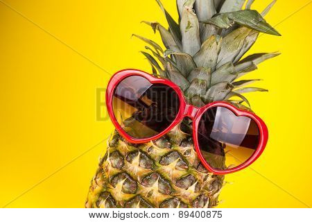 Funny Pineapple In A Sunglasses