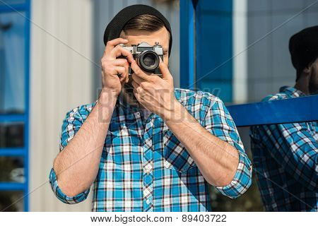 Man Making Picture