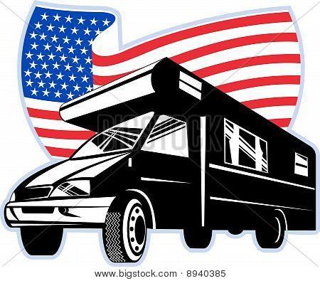 American  campervan  flag