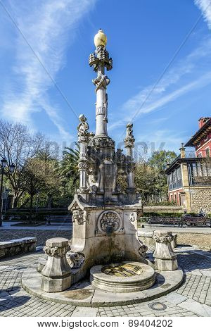 Source Of The Three Pipes In Comillas Cantabria Spain