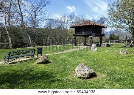 Typical Asturian Granary In Cangas De Onis