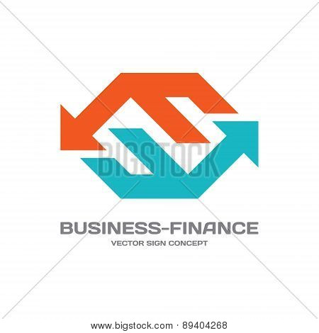 Business-finance - abstract vector logo concept illustration.