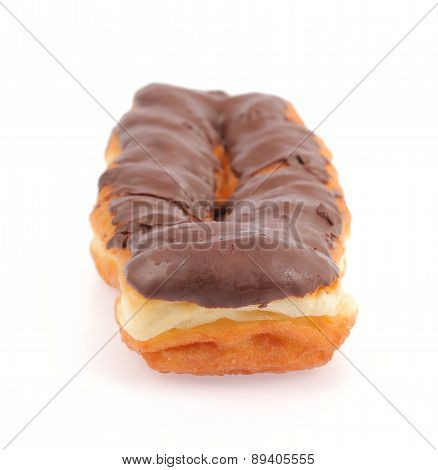 Tasteful Chocolate Eclair Isolated On White Background